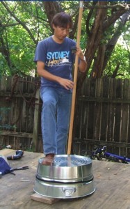 Homemade washtub bass